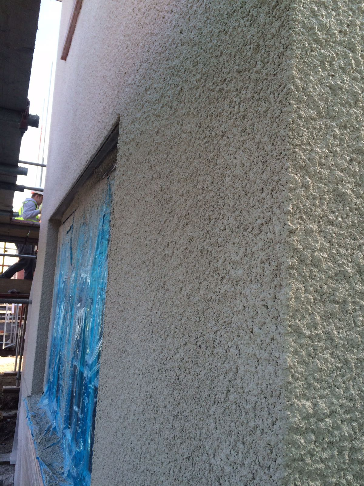 Roughcast Textured Finish Render